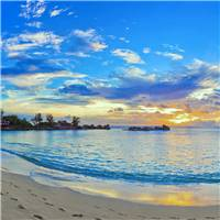 清新亮丽自然美景海滩