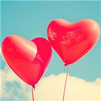浪漫爱情红色爱心气球
