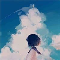 天空,动漫,女孩,背影,壁纸,短发