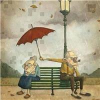 即使生气还是忍不住关心你#卡通#手绘#情侣