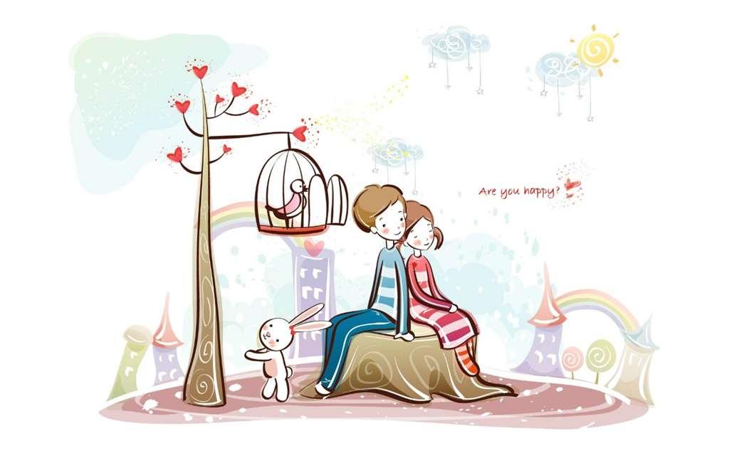 超级可爱的爱情浪漫卡通图片_动漫图片库