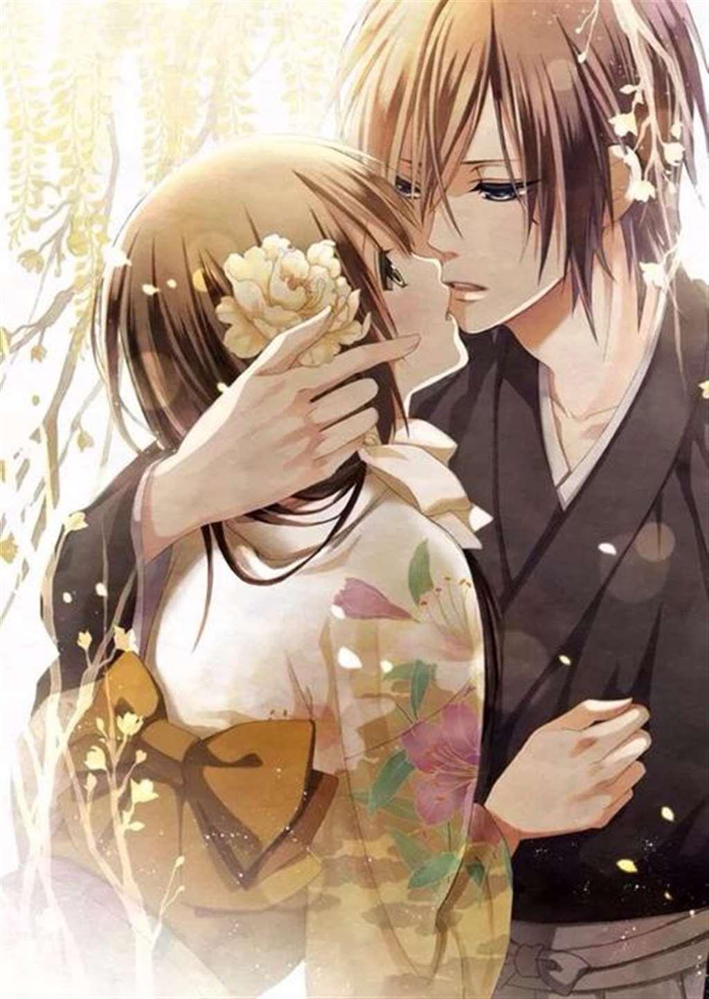 卡通动漫浪漫情侣图片两张一对 【可爱点】_配图大全